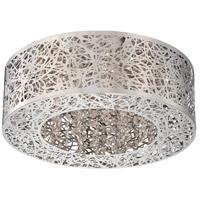 George Kovacs P980-077-L Hidden Gems LED 15 inch Chrome Flush Mount Ceiling Light