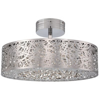 George Kovacs P985-077-L Hidden Gems LED 18 inch Chrome Semi Flush Mount Ceiling Light