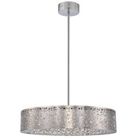 Hidden Gems LED 24 inch Chrome Pendant Ceiling Light