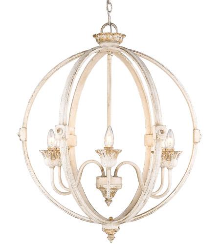 Golden Lighting 0892 6 Ai Jules Light 26 Inch Antique Ivory Chandelier Ceiling