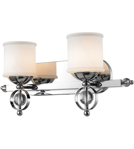 Golden Lighting Cerchi 2 Light Bath Fixture in Chrome with Etched Opal Glass 1030-BA2-CH photo