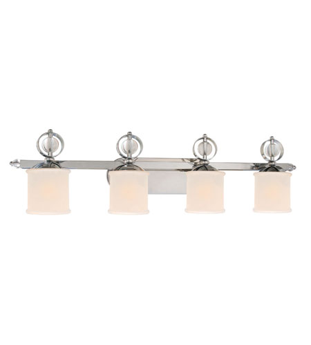 Golden Lighting Cerchi 4 Light Bath Fixture in Chrome with Etched Opal Glass 1030-BA4-CH photo