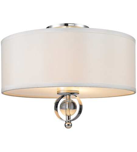 Golden Lighting 1030 Fm Ch Cerchi 2 Light 15 Inch Chrome Flush Mount Ceiling