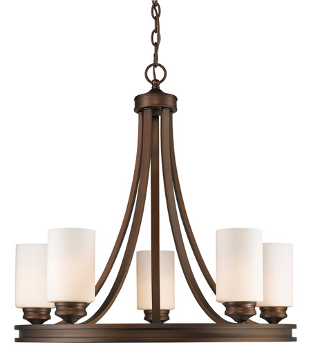 Golden Lighting One Five Sbz Op Hidalgo  Inch Sovereign Bronze Chandelier Ceiling Light