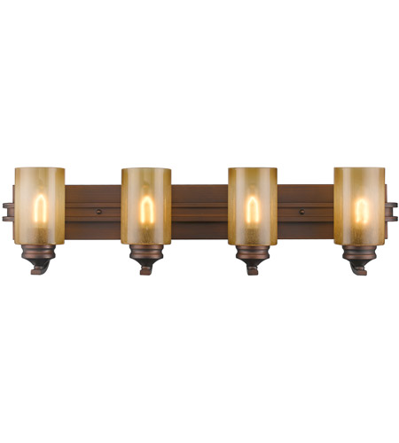 Golden Lighting 1051-BA4-SBZ Hidalgo 4 Light 33 inch Sovereign Bronze Bath Vanity Wall Light photo