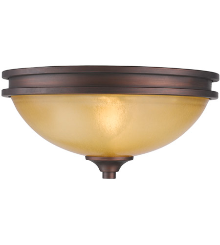 Golden Lighting 1051-FM-SBZ Hidalgo 2 Light 13 inch Sovereign Bronze Flush Mount Ceiling Light photo