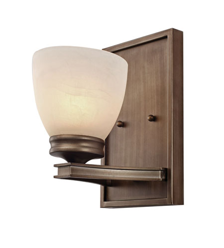 Golden Lighting Sterne 1 Light Sconce in Silvered Taupe 1054-BA1-ST photo