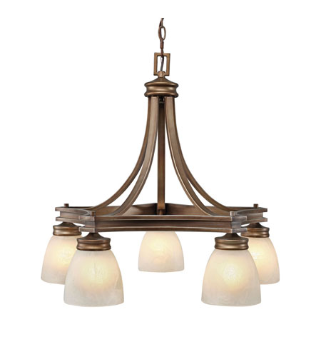 Golden Lighting Sterne 5 Light Chandelier in Silvered Taupe 1054-D5-ST photo