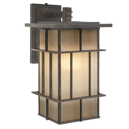 Golden Tucson 1 Light Outdoor Wall in Weathered Iron 10705-L-WI photo