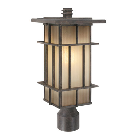Wonderful Golden Tucson 1 Light Outdoor Post In Weathered Iron 10705 P WI Photo
