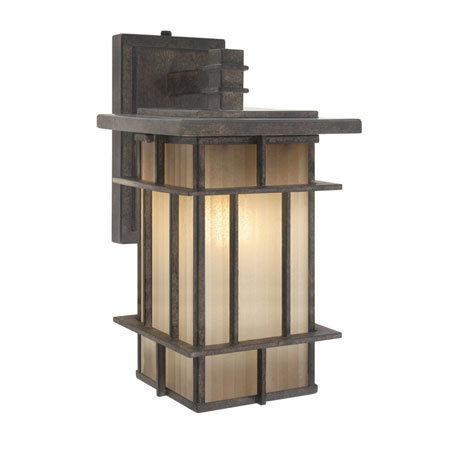 Golden Tucson 1 Light Outdoor Wall in Weathered Iron 10705-S-WI photo
