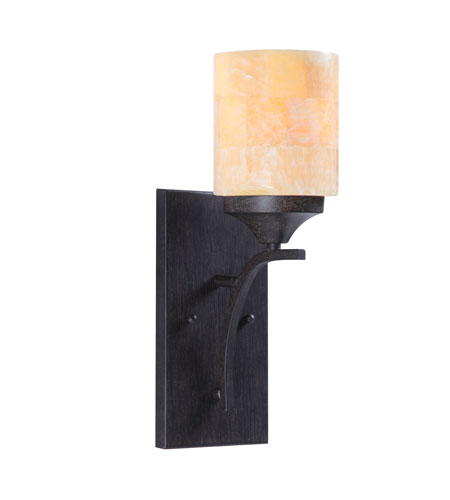 Golden Lighting Empyreal 1 Light Sconce in Roan Timber 1220-1W-RT photo