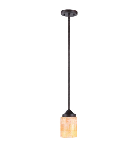 Golden Lighting Empyreal 1 Light Mini Pendant in Roan Timber 1220-M1L-RT photo