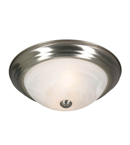 Golden Lighting Signature 2 Light Flush Mount in Pewter with Marbled Glass 1260-13-PW photo