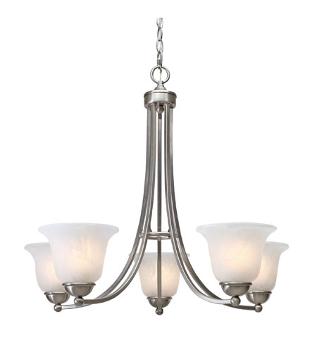 Golden Lighting Candace 5 Light Chandelier in Pewter with Marbled Glass 1260-5-PW photo