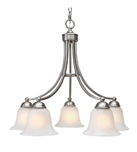 Golden Lighting Candace 5 Light Chandelier in Pewter with Marbled Glass 1260-D5-PW photo