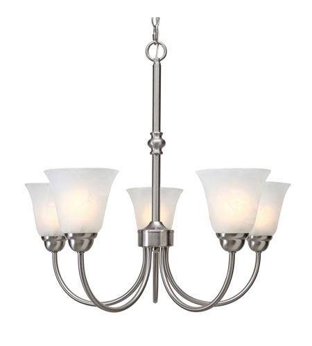 Golden Lighting Grace 5 Light Chandelier in Pewter with Marbled Glass 1264-5-PW photo
