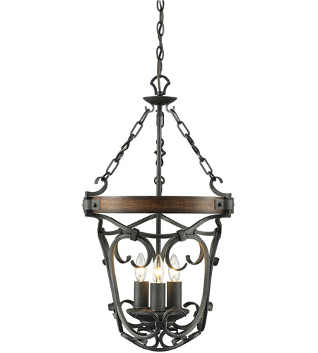 Black Iron Steel Madera Pendants