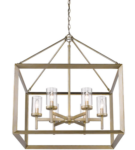 Golden Lighting 20736WGCLR Smyth 6 Light 27 inch White Gold