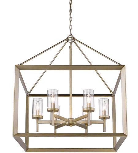 golden lighting chandelier. Golden Lighting 2073-6-WG-CLR Smyth 6 Light 27 Inch White Gold Chandelier Ceiling In Clear Glass