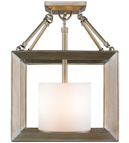 Golden Lighting Steel Smyth Semi-Flush Mounts