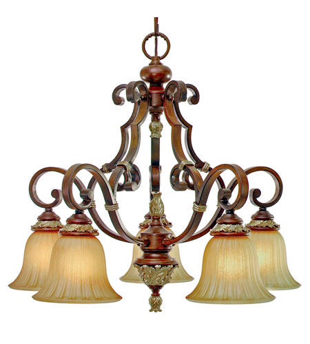 Golden Lighting Bristol Place 5 Light Chandelier in New World Bronze 2501-D5-NWB photo