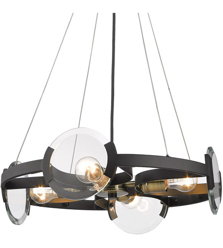 Golden Lighting 2635-4SF-BLK-AB Amari 4 Light 19 inch Black with Aged Brass Semi-Flushmount Ceiling Light, Convertible 2635-4SF-BLK-AB-(2).jpg