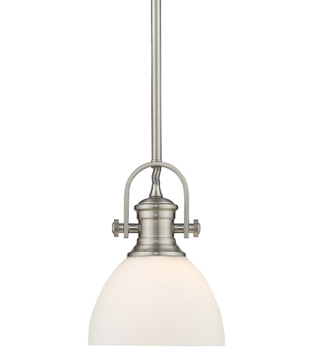 Hines Pw 1 Light 7 Inch Pewter Mini Pendant Ceiling In Opal Gl