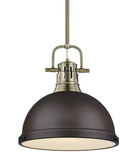 Golden Lighting 3604-L CH-RD One Light Pendant Chrome