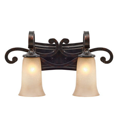 Golden Lighting Portland 2 Light Bath Vanity in Fired Bronze 3966-BA2-FB photo