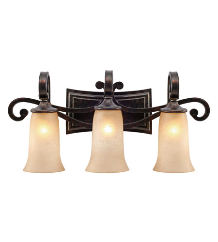 Golden Lighting 3966-BA3-FB Portland 3 Light 27 inch Fired Bronze Bath Vanity Wall Light photo