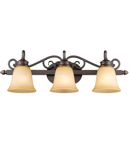 Golden Lighting 4074-3-RBZ Belle Meade 3 Light 28 inch Rubbed Bronze Bath Vanity Wall Light photo