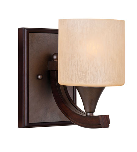 Golden Lighting Geller 1 Light Sconce in Mahogany Wood 4090-BA1-MW photo