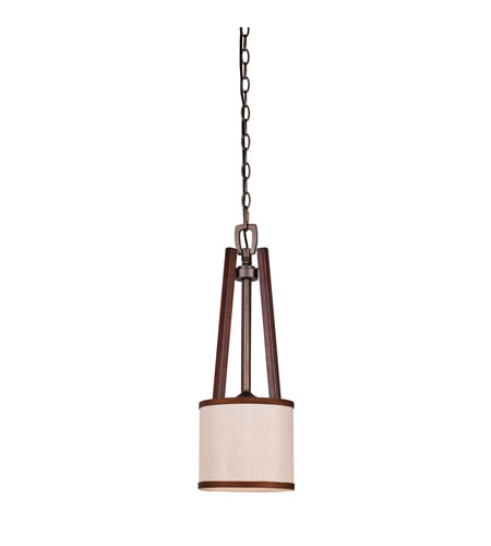 Golden Lighting Geller 1 Light Mini Pendant in Mahogany Wood 4090-M1L-MW photo