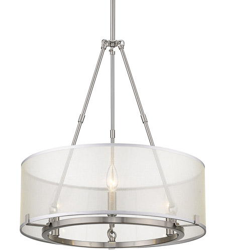 Golden Lighting 5019 3 Pw Alyssa Light 20 Inch Pewter Mini Chandelier Ceiling Convertible To Semi Flush