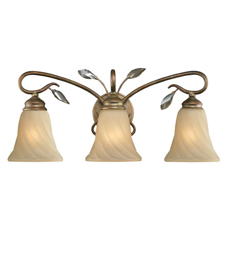 Golden lighting beau jardin 3 light bath fixture in rose for Beau jardin bath rocks