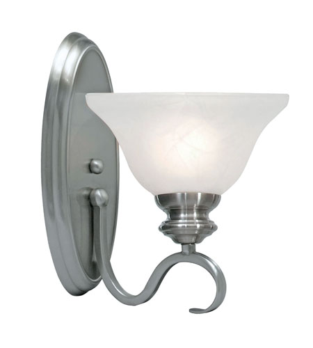 Golden Lighting 6005-1W-PW Lancaster 1 Light 8 inch Pewter Wall Sconce Wall Light in Marbled Glass photo