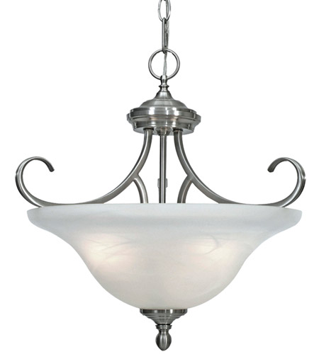 Golden Lighting Lancaster 3 Light Semi-Flush (Convertible) in Pewter 6005-SF-PW photo