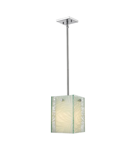 Golden Lighting Ravenea 1 Light Pendant in Chrome 6013-PEN-RAV photo