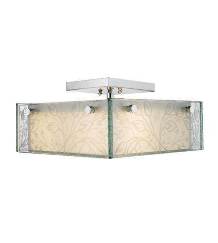 Golden Lighting Bouquet 3 Light Convertible Semi-Flush Mount in Chrome 6013-SFM-BQT photo