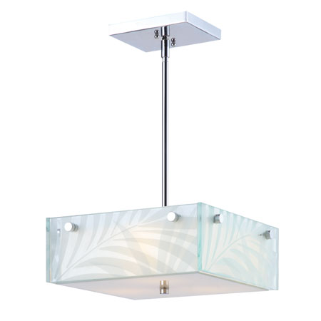 Golden Lighting Ravenea 3 Light Convertible Semi-Flush Mount in Chrome 6013-SFM-RAV photo