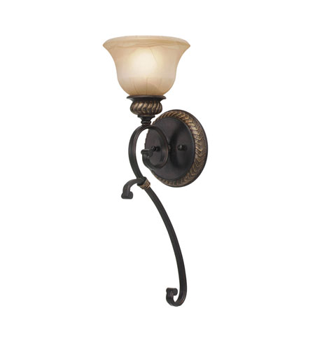 Golden Lighting 6029-1W-EB Jefferson 1 Light 7 inch Etruscan Bronze Wall Sconce Wall Light photo