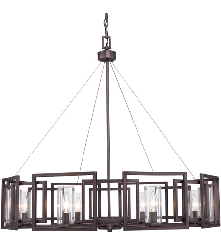 Golden Lighting 6068-8-GMT Marco 8 Light 36 inch Gunmetal Bronze Chandelier Ceiling Light photo