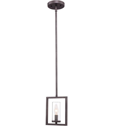 Golden Lighting 6068-M1L-GMT Marco 1 Light 7 inch Gunmetal Bronze Mini Pendant Ceiling Light photo