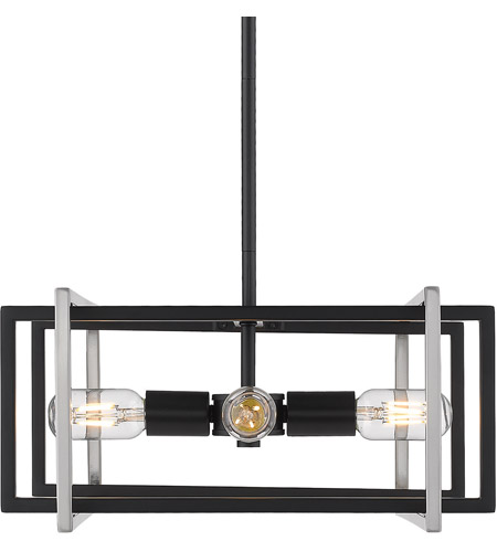 Tribeca 4 Light 16 Inch Black Pendant Ceiling
