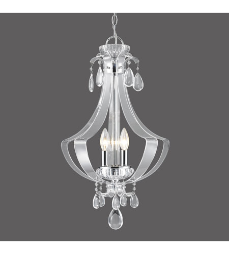 Golden Lighting Clarion 3 Light Pendant in Chrome with Metal Candle Sleeves 6530-3P-CH photo
