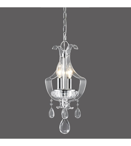 Golden Lighting Clarion 2 Light Mini Pendant in Chrome with Metal Candle Sleeves 6530-M1L-CH photo