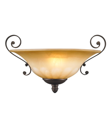 Golden Lighting 7116-WSC-LC Mayfair 1 Light 14 inch Leather Crackle Wall Sconce Wall Light photo