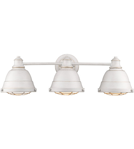 Golden Lighting 7312-BA3-FW Bartlett 3 Light 24 inch French White Bath Vanity Wall Light photo thumbnail