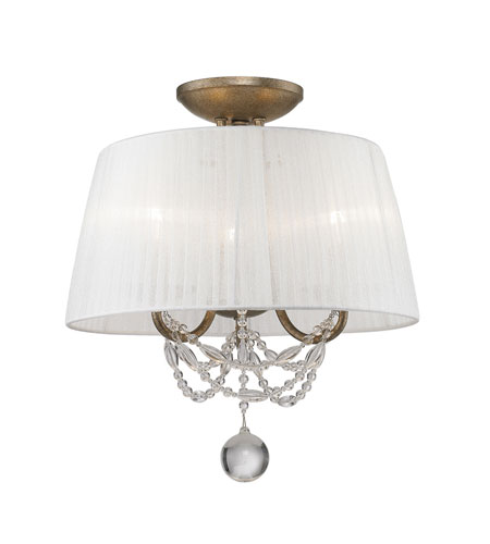Golden Lighting 7644-SF-GA Mirabella 3 Light 14 inch Golden Aura Semi-Flush Ceiling Light, Convertible photo